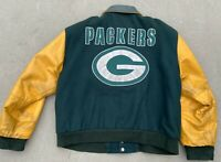 Vintage 90's Green Bay Packers Letterman Jacket Size XL