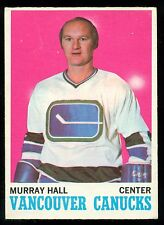 1970 71 OPC O PEE CHEE  #118 MURRAY HALL EX-NM VANCOUVER CANUCKS HOCKEY CARD