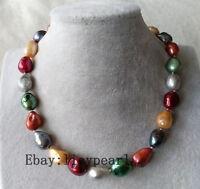 10-11mm weiße barocke Perle lange Halskette,32inch
