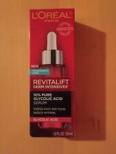 L'Oreal Revitalift Derm Intensives 10% Pure Glycolic Acid Serum 1.0 fl oz NIB