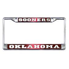 OU UNIVERSITY OF OKLAHOMA Sooners Mirrored Chrome License Plate Frame