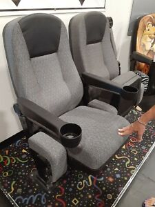 (50) Commercial Quality Real Movie Cinema Theater Seats Fabric Super Nice