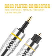 2m Toslink to Mini Plug 3.5mm Optical Fiber Digital Audio Cable SPDIF GoldPlated