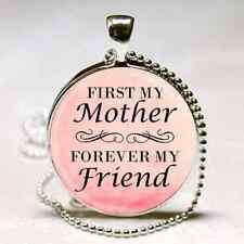 MOTHER QUOTE NECKLACE MOM MOTHER'S DAY GIFT PENDANT From Son Daughter PINK