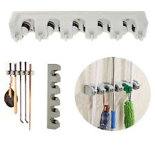 Wall Mounted  5 Rack Storage Mop Broom Brush Organizer Holder Hanger Kitchen New