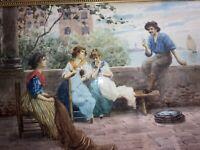 Original 19th Century Watercolor Depicting Venetian Scene