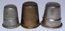 Tolles Lot mit 3 alten Fingerhüten Gr.6,2/0,3/0, gebraucht, kl. Kratzer, II