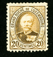 Luxembourg Stamps # 62a VF Unused Scott Value $160.00