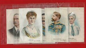 5 x  GREAT WAR LEADERS -BDV GODFREY PHILLIPS - XXL CIGARETTE CARD SILKS (SH03)