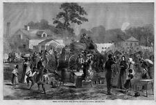 CIVIL WAR REBELS MOVING SOUTH FROM ATLANTA, ANTIQUE