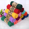 Lady women long candy colors soft cotton Scarf Wrap Shawl scarves New stole