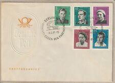 """Ersttagsbrief - """"Aufbau und Erhaltung Nationaler Gedenkstätten 1961"""" Mi. 808-812"""
