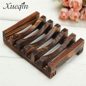 Xueqin Handmade Wooden Bathroom Wood Soap Dish Box Container Kitchen Tub Sponge