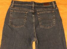 Lee women's denim jeans relaxed straight bootcut size12 M W-35 L-31 excellent