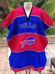 NFL Football Handmade Poncho BUFFALO BILLS Mexican Blanket