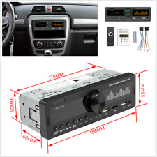 In-dash 12V Car Stereo FM Radio MP3 Player Bluetooth 5.0 AUX Input Handsfree MIc