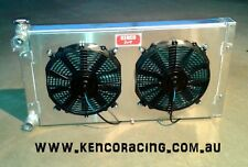 Kenco Universal Aluminium Dual Double Pass Radiator w Fans and Shroud Speedway