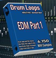 EDM Drum Loops Part 1 EDM Beats! FL Studio Ableton Cubase Logic Pro Tools WAV
