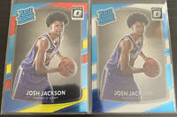 2017-18 Josh Jackson Optic Rated Rookie + Red Yellow Blue RC #197 Suns (x2)