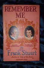 REMEMBER ME by FRANK STUART-STANLEY PAUL-H/B D/W-£3.25 UK POST