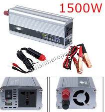 1500W 12v DC TO 110v AC car truck automotive POWER INVERTER Converter 1500 WATT
