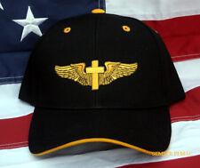 CHRISTIAN WING JESUS GOD CROSS HAT CAP PATCH HEAVEN PIN UP PILOT CREW SOLO GIFT