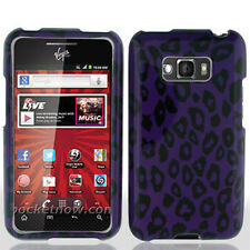 For LG Optimus Elite LS696 HARD Case Sanp On Phone Cover Purple Leopard