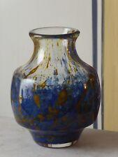 S1-  Karl Wiedmann Vase Gral WMF Blau Überfangglas - Ikora Art - sehr dickwandig