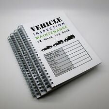 A5 52 WEEK VEHICLE INSPECTION MAINTENANCE RECORD LOG BOOK DRIVER SAFETY CHECKS