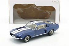 Ford Shelby MUSTANG Gt 500 Anno 1967 Blu Metallizzato/Bianco 1:18 Solido