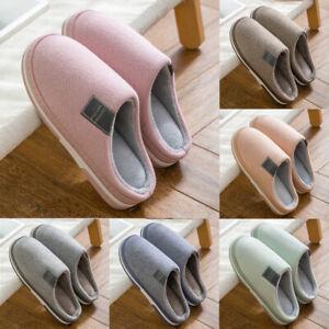 Winter Warm Herren Damen Pantoffeln Puschen Hausschuhe Schlappen Schuhe DE