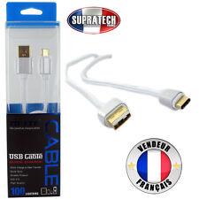 Câble Data USB-C Type C Renforcé Rigide Gris Tressé pour Samsung Galaxy S8 Plus