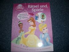 """"""" Rätsel und Spiele  """" Disney-Prinzessin m.12 Tattoos SUPERSÜSS  NAGELNEU"""