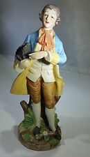 CAPODIMONTE N WITH CROWN BISQUE COLONIAL FIGURINE STATUE SCULPTURE COLLECTIBLE
