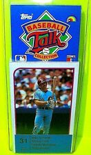 1989 BASEBALL CARD TALK COLLECTION MLB MIKE SCHMIDT TODD WORRELL Set 31 FORD