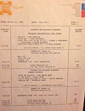 RADIO SHOW: 3/14/88  HELP! JONI MITCHELL, BEACH BOYS, ANIMALS, STONES, ELVIS