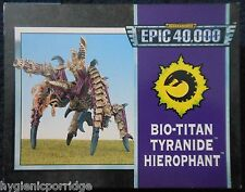 1995 epic tyranid bio titan hierophant games workshop warhammer 6mm armée 40K mib
