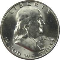 1954 Franklin Half Dollar BU Uncirculated Mint State 90% Silver 50c US Coin