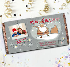 Personalised Merry Christmas Chocolate Bar N22 Girls Boys Stocking Filler Gift