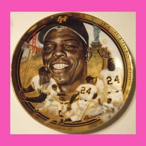 The Legendary Willie Mays Limited Edition Plate # 1421 F  Brand New w/ COA