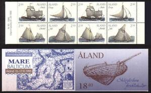 Aland 1995 Cargo Sailing Ships, Complete Booklet, Sump & Shuta MNH/UNM