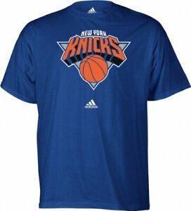 NBA New York Knicks Short Sleeve Adidas T-Shirt, Blue