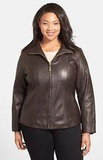 Ellen Tracy Women's Scuba Leather Jacket
