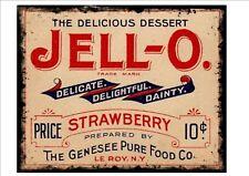 Signo de Metal Vintage Reproducción Cartel de publicidad, anuncio de jalea Jell-o