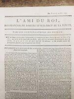 Fuite de Louis 16 à Varennes 1791 Retour du roi Journal Royaliste Révolution