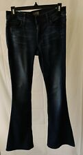 MOTHER Women's The Cruiser Flare Leg Jeans Pants Size 27 Dark Blue Wash
