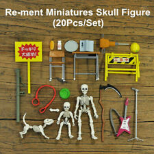 Re-ment Miniatures Skull Figure Pose Skeleton Adult Action Accessories Toys Gift