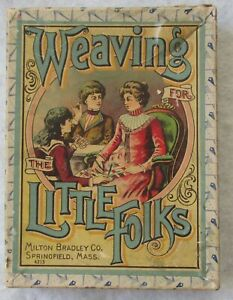 Milton Bradley c1860s Weaving For The  Little Folks USA civil war era