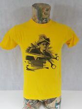 James Joyce Mens T Shirt Yellow Rare Small 100% Cotton <A3.1>
