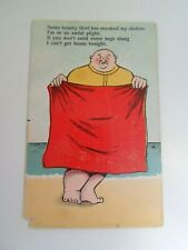 STOLEN CLOTHES BEACH SEASIDE HUMOUR - Old Comic Postcard Franked 1915  §E1213